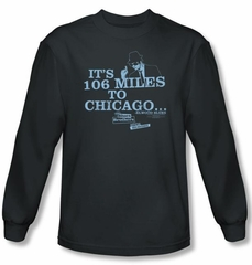 The Blues Brothers Long Sleeve T-shirt Movie Chicago Charcoal Shirt