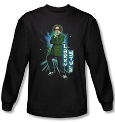 Three Stooges Shirt Funny Larry Style Adult Black Long Sleeve Tee