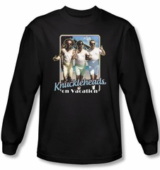 Three Stooges Shirt Knuckleheads On Vacation Black Long Sleeve Tee