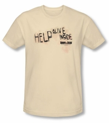 Dawn Of The Dead T-shirt Help Alive Inside Natural Slim Fit Shirt