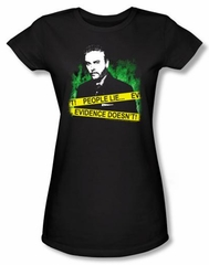 CSI Juniors T-shirt People Lie Girly Black Tee