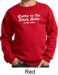 Funny Sweatshirt Come To The Dark Side We Have Cookies Kids Sweatshirt