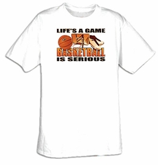Basketball Is Serious Sport Adult T-shirt Tee Shirt