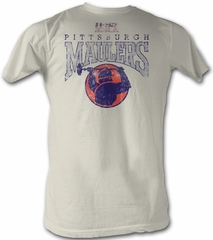 USFL Pittsburgh Maulers T-shirt Football League Vintage White Tee