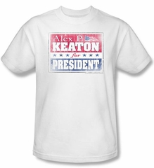 Family Ties Kids Shirt Alex For President Youth White T-Shirt