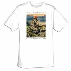 Crack Of Dawn Hunting Adult T-shirt Tee Shirt
