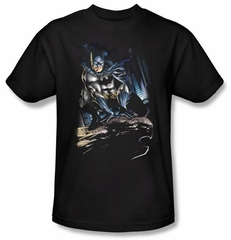 Batman T-Shirt - Perched Adult BlackTee