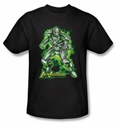 Superman T-shirt DC Comics Kryptonite Lux Luther Adult Black Tee Shirt