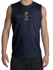 Ford Mustang Cobra Shooter Shirt - Ford Motor Company Grill Adult Navy