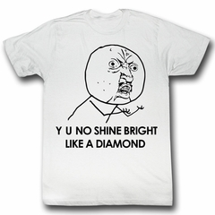 Y U NO Shirt Like It Adult White Tee T-Shirt