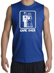 Game Over Muscle Shirt Funny Marriage Royal Shooter - White Print