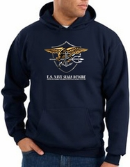 US Navy Seal Hoodie Hooded Sweatshirt – Devgru Adult Navy Blue Hoody