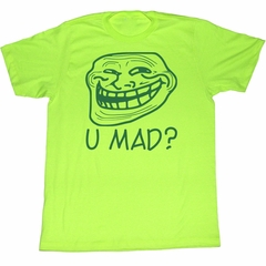 You Mad T-Shirt You Mad Adult Lime Green Tee Shirt