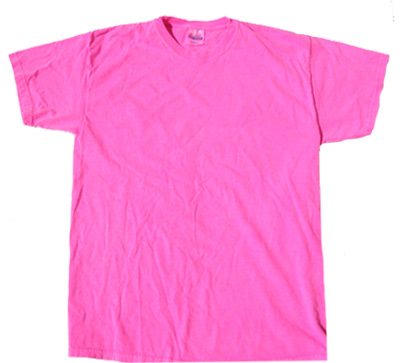 Neon Pink Bright Colorful Adult T-Shirt Tee Shirt - Neon Color T ...