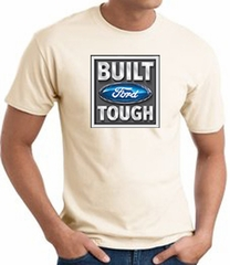 Built Ford Tough T-Shirt - Ford Logo Adult Natural Tee Shirt
