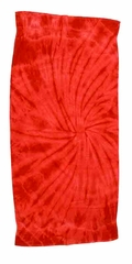 Tie Dye Spider Red Retro Vintage Groovy Beach Towel