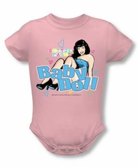 Betty Bettie Page Romper Baby Doll Infant Baby Pink Snapsuit