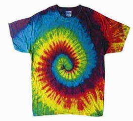 Tie Dye Kids T-shirt Reactive Rainbow Vintage Swirl Youth Tee Shirt