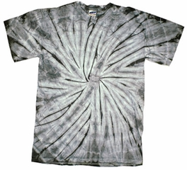 Tie Dye Kids Shirt Spider Silver Youth Tee Shirt