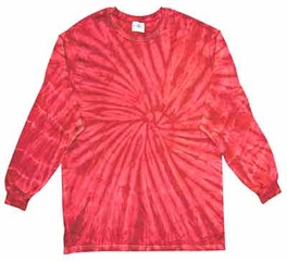 Tie Dye Kids Shirt Spider Red Long Sleeve Youth T-Shirt