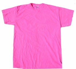 Neon Pink Bright Colorful Youth Kids Unisex T-Shirt Tee Shirt