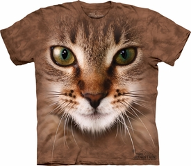 Cat Shirt Striped Feline Adult Tye Dye T-shirt