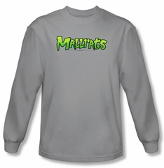 Mallrats T-shirt Movie Mallrats Logo Adult Silver Long Sleeve Shirt