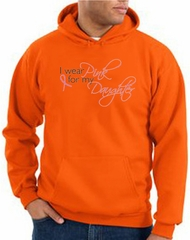 Breast Cancer Hoodie Sweatshirt Wear Pink For My Daughter Orange Hoody