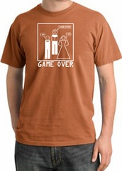 Game Over Ceremony Pigment Dyed Burnt Orange T-shirt - White Print