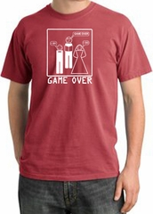 Game Over Ceremony Pigment Dyed Dashing Red T-shirt - White Print