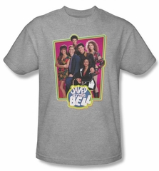 Saved by the Bell Shirt Cast of Characters Heather Adult Tee T-Shirt