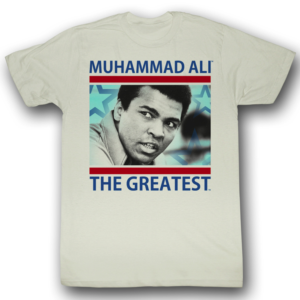muhammad ali shirt mo greatest adult natural tee t shirt. Black Bedroom Furniture Sets. Home Design Ideas