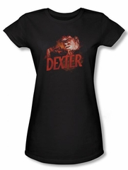 Dexter Juniors Shirt Drawing Black T-shirt Tee