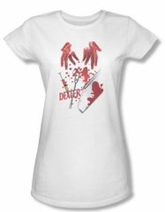 Dexter Juniors Shirt Tools Of The Trade White T-shirt Tee