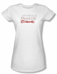 Dexter Juniors Shirt Plastic Prediction White T-shirt Tee