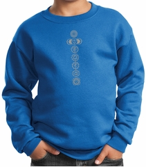 Kids Yoga Sweatshirt 7 Chakras Meditation Youth Sweatshirt