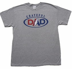 Grateful Dead Dad Shirt - Heather Grey Mens Tee T-Shirt