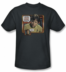 Star Trek Shirt Enemy Wessel Chekov Adult Charcoal Tee T-Shirt