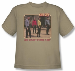 Star Trek Kids Shirt Red Shirt Blues Sand Youth Tee T-Shirt