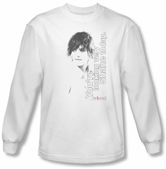 The L Word Shirt Looking Shane Today White Long Sleeve T-Shirt Tee