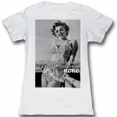 Marilyn Monroe Juniors Shirt A Girl Knows White Tee T-Shirt