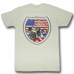 Evel Knievel Shirt Interstate Adult Dirty White Tee T-Shirt