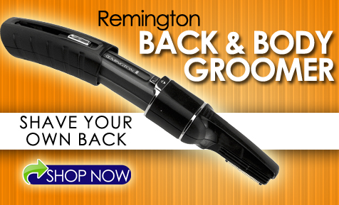 Shave and trim your own back with this remington body groomer
