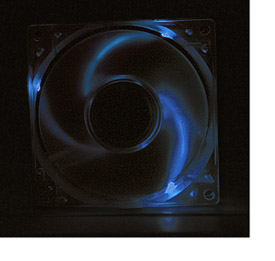 Blue LED Lighted Ball Bearing Case Fan