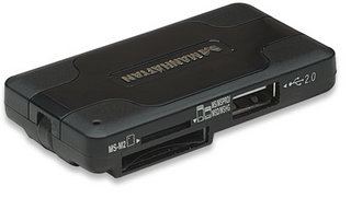 3-Port USB 2.0 Combo Hub with 41-in-1 Card Reader, Manhattan 100984
