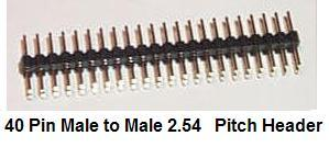 40 Pin Male/Male IDC 2.54mm Pitch Gender Changer