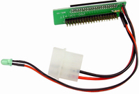 """44 Pin to 40 Pin 2.5"""" Laptop IDE Hard Drive Adapter with LED"""