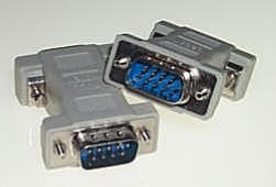 DB9 Male/Male Null Modem Adapter
