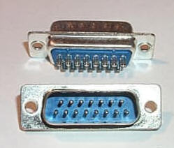D-Sub Solder Type DB15  Male Connector Cup