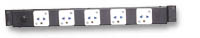"19"" Open Rack 5 Outlet Power Strip"